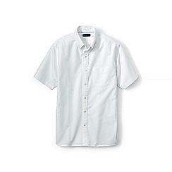 Lands' End - White short sleeve sail rigger oxford shirt