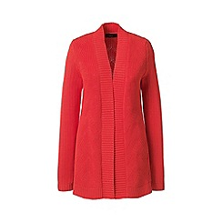 Lands' End - Red petite drifter mixed stitch cardigan