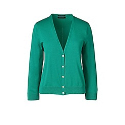 Lands' End - Green  regular fine gauge supima dress cardigan