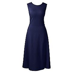 Lands' End - Blue ponte jersey panelled dress