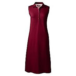 Lands' End - Red regular sleeveless pique polo dress