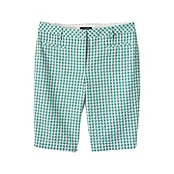 Lands' End - Green regular seersucker bermuda shorts