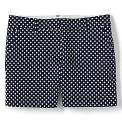 Lands' End - Blue regular  patterned chino shorts