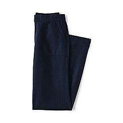Lands' End - Blue regular linen trousers