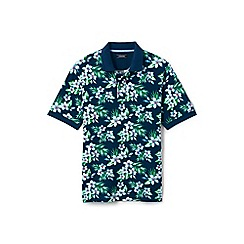 Lands' End - Multi printed traditional fit pique polo