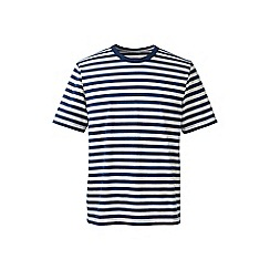 Lands' End - Cream regular striped super-t