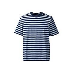Lands' End - White regular striped super-t