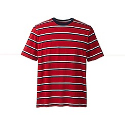 Lands' End - Red regular striped super-t