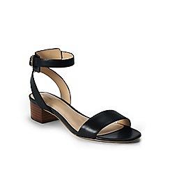 Lands' End - Black regular amalia ankle strap sandals
