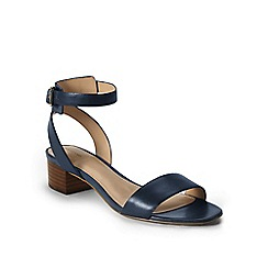 Lands' End - Blue regular amalia ankle strap sandals
