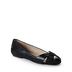 Lands' End - Black regular open toe shoes