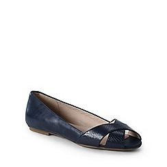 Lands' End - Blue regular open toe shoes