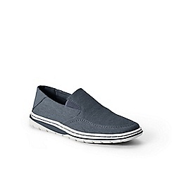 Lands' End - Blue regular comfort canvas slip-ons