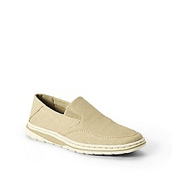 Lands' End - Beige regular comfort canvas slip-ons