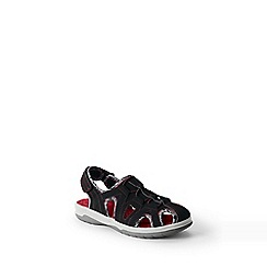 Lands' End - Black kids' closed-toe action sandals