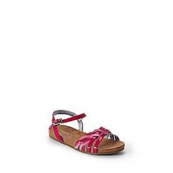 Lands' End - Red girls' plaited sandals