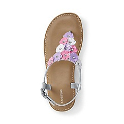 Lands' End - Girls' metallic flower thong sandals
