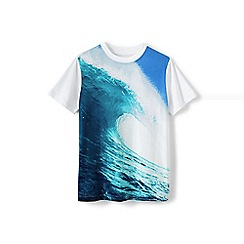 Lands' End - White boys' photo print graphic tee