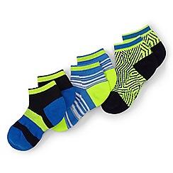 Lands' End - Kids Multicoloured athletic low cut socks (3-pack)