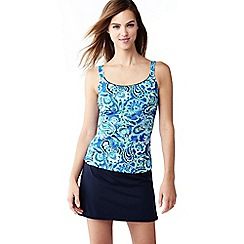 Lands' End - Blue mastectomy paisley scoop neck tankini top