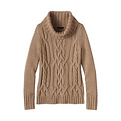 Lands' End - Beige women's merino blend cowl neck
