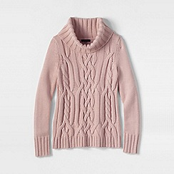 Lands' End - Pink merino blend cowl neck