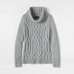 Lands' End - Grey merino blend cowl neck