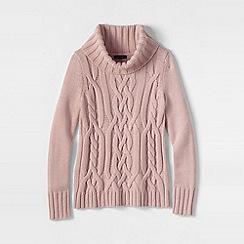 Lands' End - Pink petite merino blend cowl neck