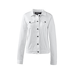 Lands' End - White regular white denim jacket