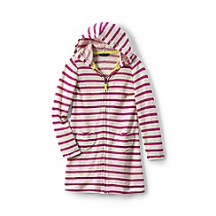 Lands' End - Pink girls' jersey beach cover-up