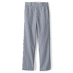 Lands' End - Boys' blue tailored seersucker trousers