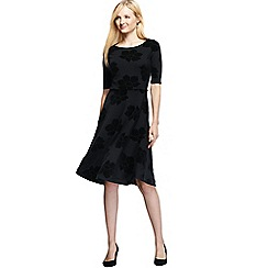 Lands' End - Multi women's ponte jersey damask boatneck dress