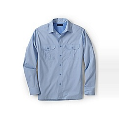 Lands' End - Blue upf30 travel shirt