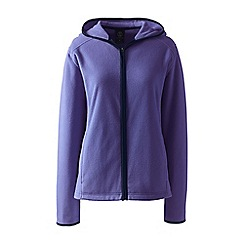 Lands' End - Purple petite everyday fleece hooded jacket
