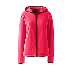 Lands' End - Pink petite everyday fleece hooded jacket