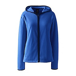 Lands' End - Blue petite everyday fleece hooded jacket