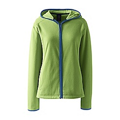 Lands' End - Green petite everyday fleece hooded jacket