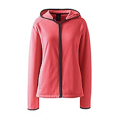 Lands' End - Orange petite everyday fleece hooded jacket
