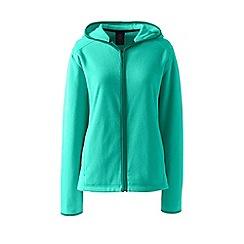 Lands' End - Blue tall everyday fleece hooded jacket
