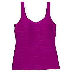 Lands' End - Purple regular textured sweetheart tankini top