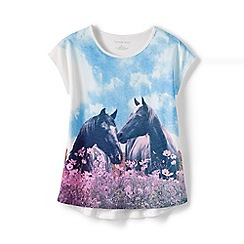 Lands' End - Girls Toddler Multicoloured dolman sleeve graphic tee