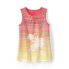 Lands' End - Orange girls' graphic vest top
