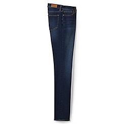 Lands' End - Blue petite mid rise slim leg xtra life jeans