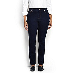 Lands' End - Blue plus mid rise slim leg xtra life jeans