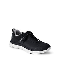 Lands' End - Black leather active trainers