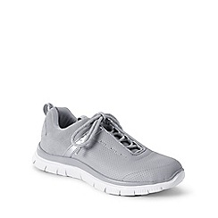 Lands' End - Grey leather active trainers