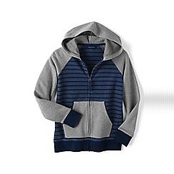 Lands' End - Blue boys' zip front hoodie