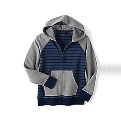 Lands' End - Blue boys' zip front hoodie