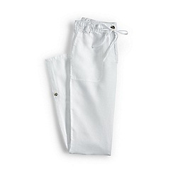 Lands' End - White regular linen roll hem trousers