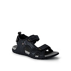 Lands' End - Black regular open-toe sandals